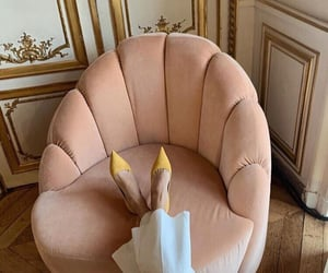 aesthetic, armchair, and pink image