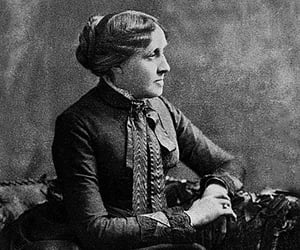 author, book, and louisa may alcott image