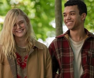 Elle Fanning, netflix, and justice smith image