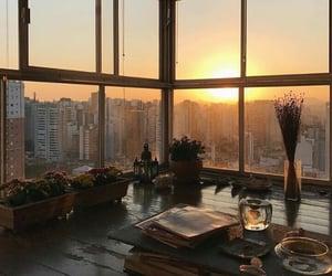 city, interior, and sunset image