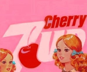 cherry, pink, and vintage image