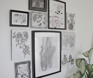 abstract art, creative, and room inspo image