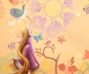 disney, painting, and rapunzel image