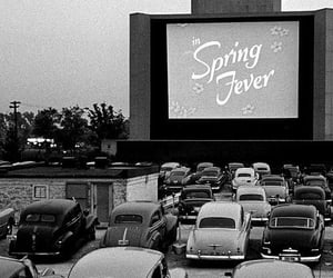 vintage, car, and drive in image