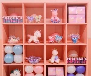 balloon, box, and pink image