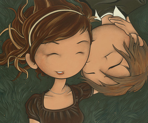 in love, cople, and love image