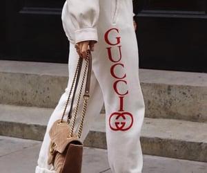fashion, gucci, and sweatpants image