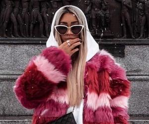 fashion, fur coat, and winter image