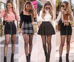 chicas, bufanda, and faldas image