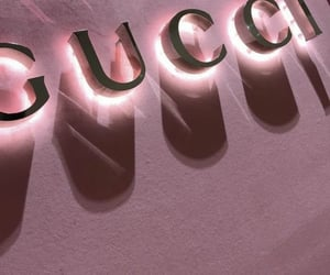 gucci, pink, and aesthetic image