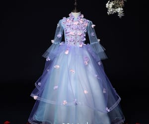 birthday dress, little girl dress, and wedding party dress image