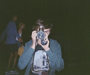 boy, camera, and hipster image