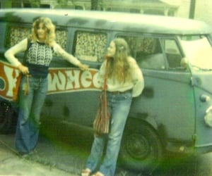 hippies, 1970s, and vintage image