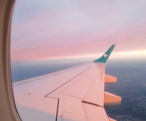airplane, colorful, and flight image