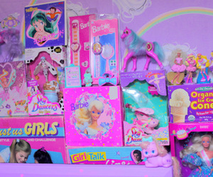 toys, barbie, and pink image