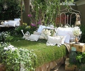 bed, garden, and nature image