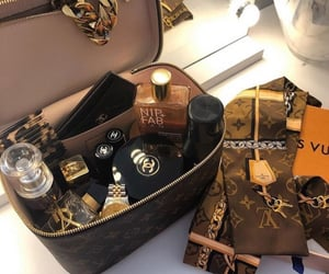 chanel, Louis Vuitton, and gold image