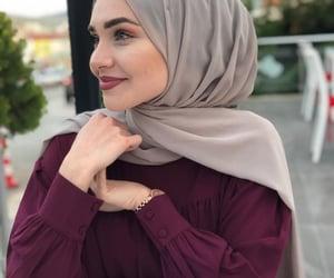 dress, hijab, and cute image