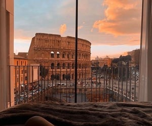 rome, sky, and view image