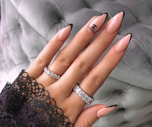 nails, chanel, and style image