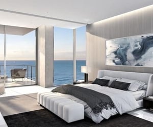 beach, beach house, and bedroom image
