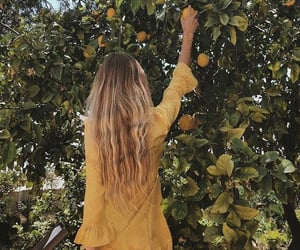 yellow, summer, and dress image