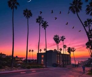 sky, california, and sunset image
