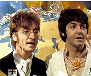 the beatles, 60s, and john lennon image