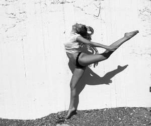 black and white, dancing, and acrobatics image