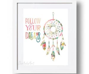 etsy, dreamsquote, and large wall art image