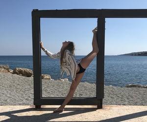 beach, beautiful, and flexibility image