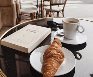 breakfast, coffee, and book image
