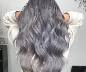 grey hair, silver hair, and wavy hair image