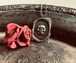 boho, emo, and skulls image