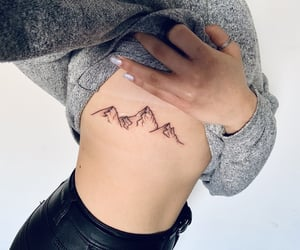 aesthetic, ink, and mountains image
