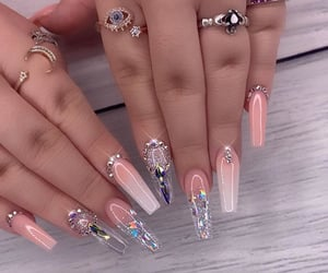 nails, long, and Nude image