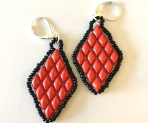 etsy, dangle earrings, and womens jewelry image
