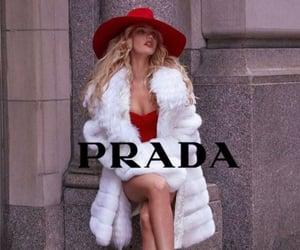 Prada, fashion, and red image