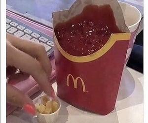 fries, mcdonald's, and ketchup image