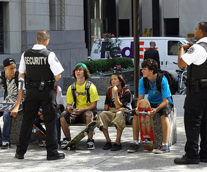boy, skate, and cops image