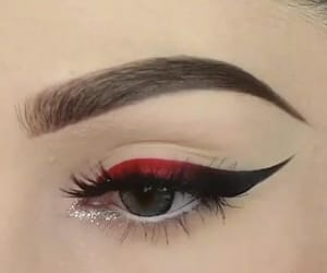 red, makeup, and beauty image