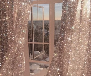aesthetic, window, and glitter image