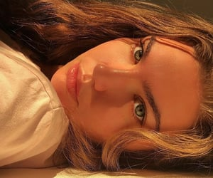 girl, pretty, and golden hour image