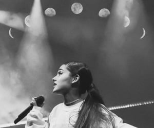 black and white, chic, and concert image