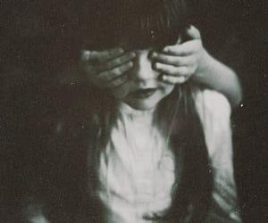 black, blindfold, and vintage image