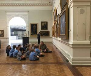 art, museum, and kids image