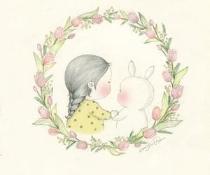 bunny, chubby, and girl image