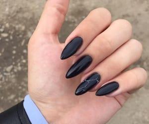 nails, black, and cute image