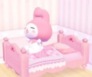 my melody, pastel, and pink image