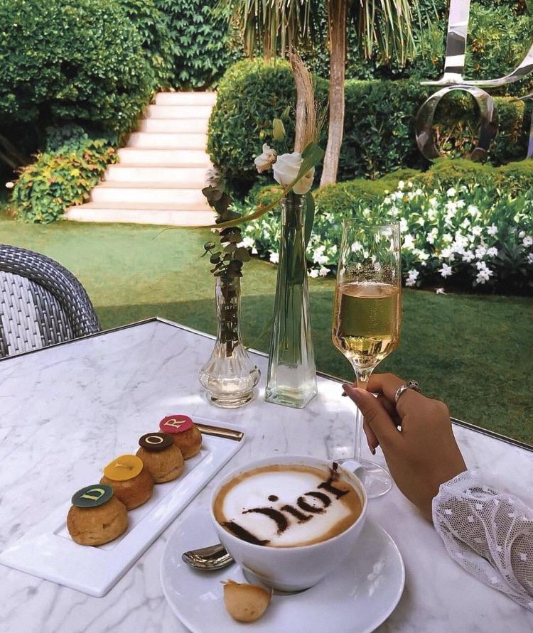 food, coffee, and dior image
